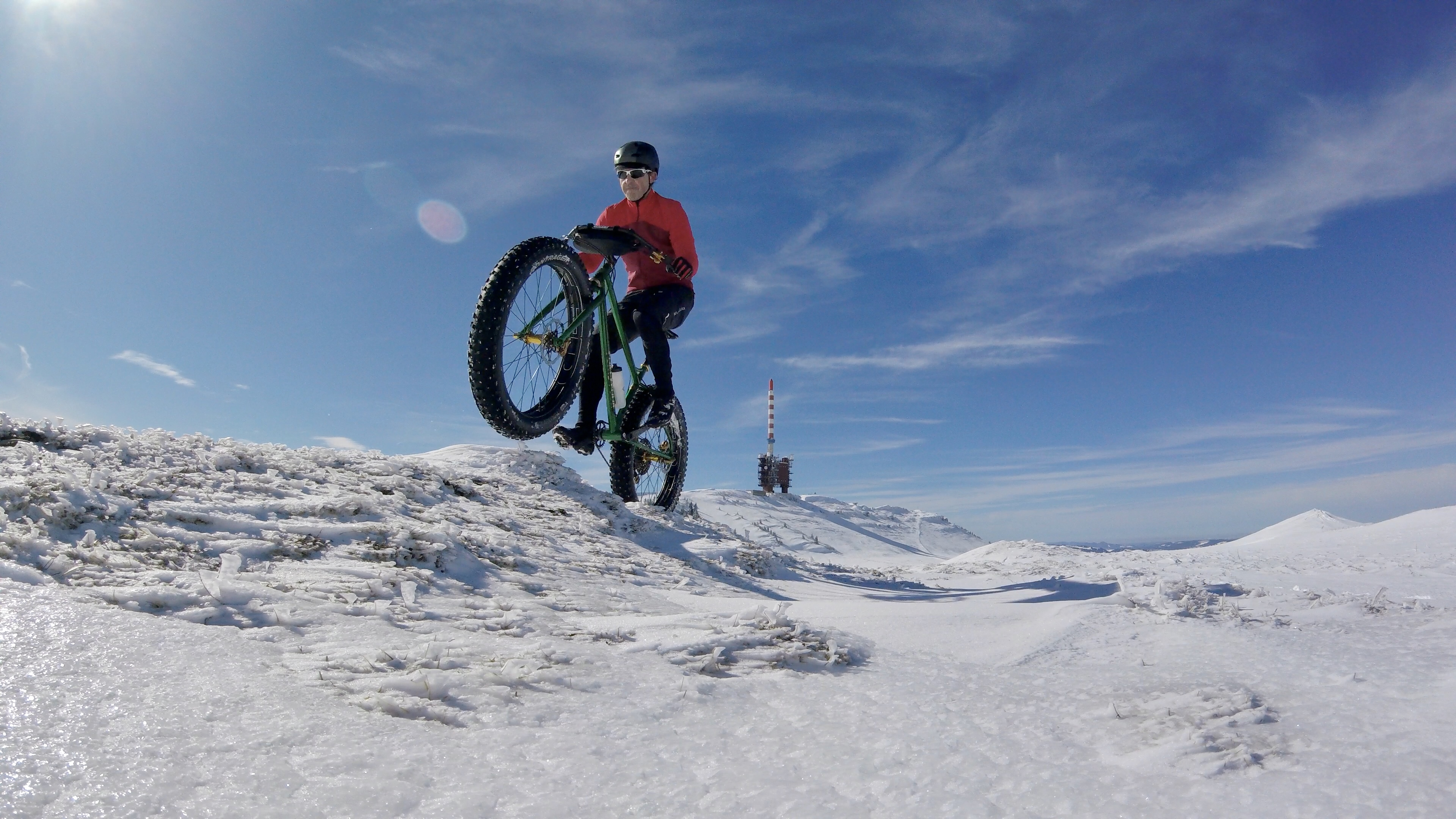 Crossing the Petit Chasseral on March 8, 2020.
