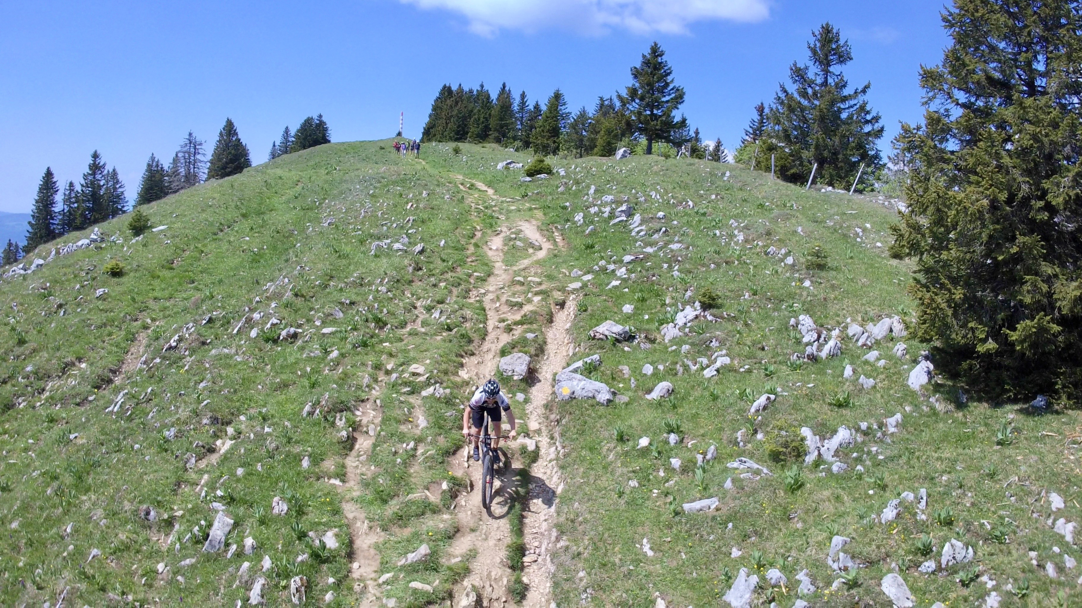 Chasseral crest trail on a rigid single-speed.
