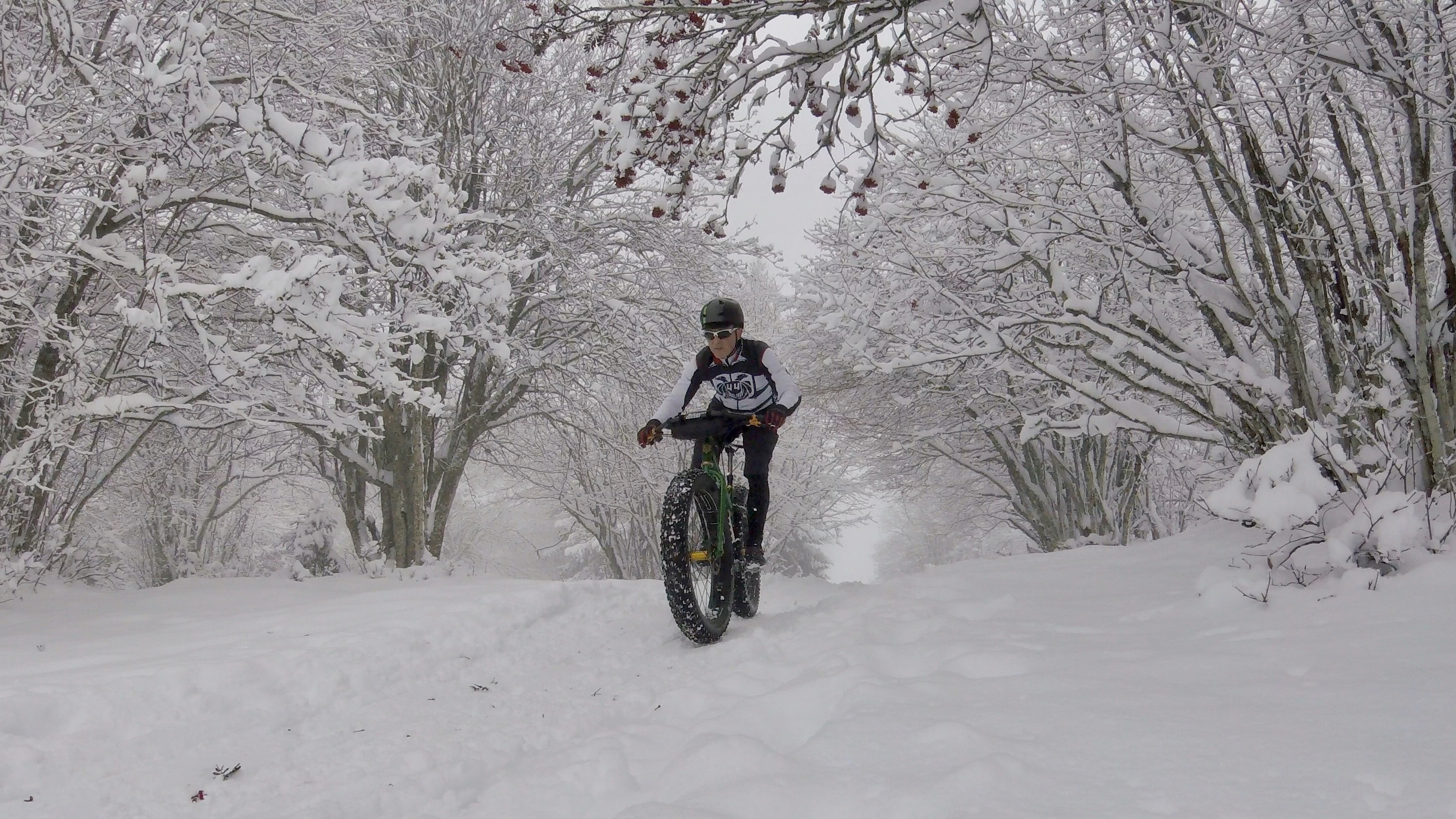 Winter trail on the Mont Sujet.