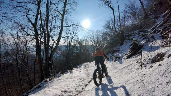 Late afternoon downhill.