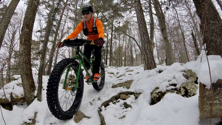 Rough trails are easier on snow.