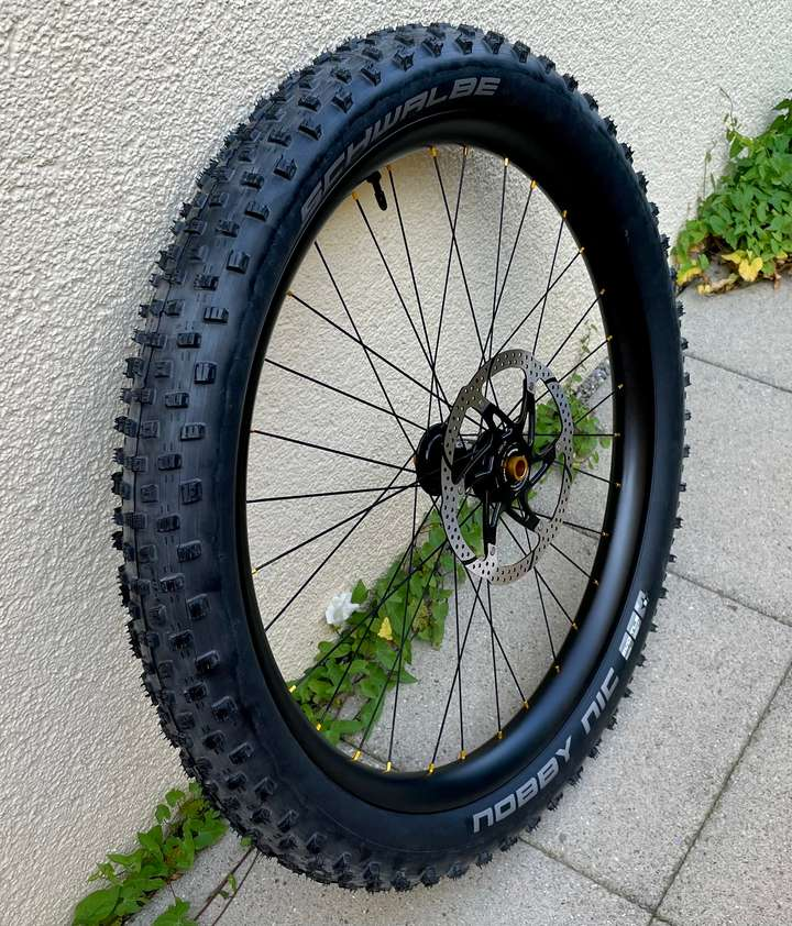 The front wheel.