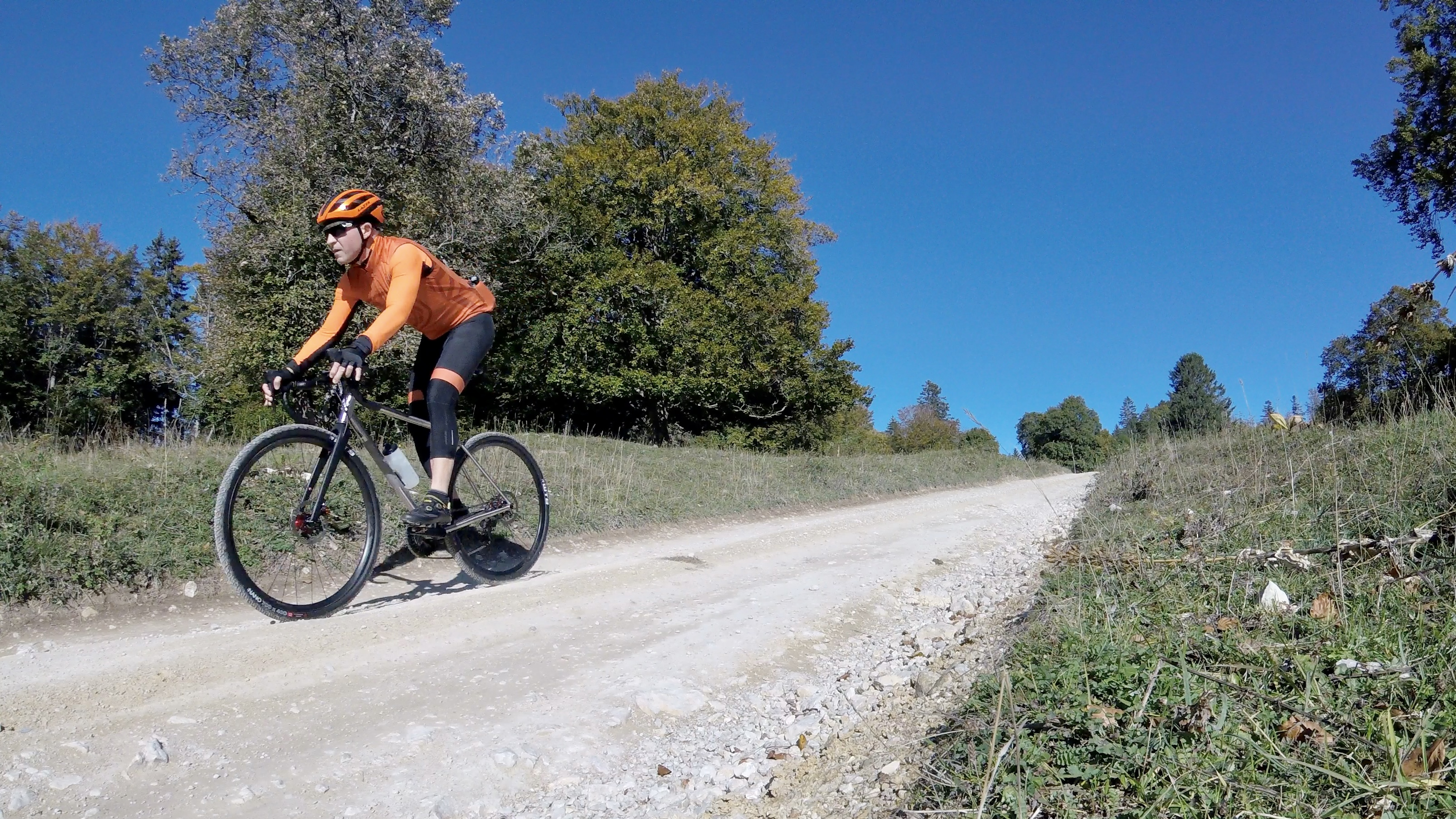 Gravel road to Plagne, Switzerland.