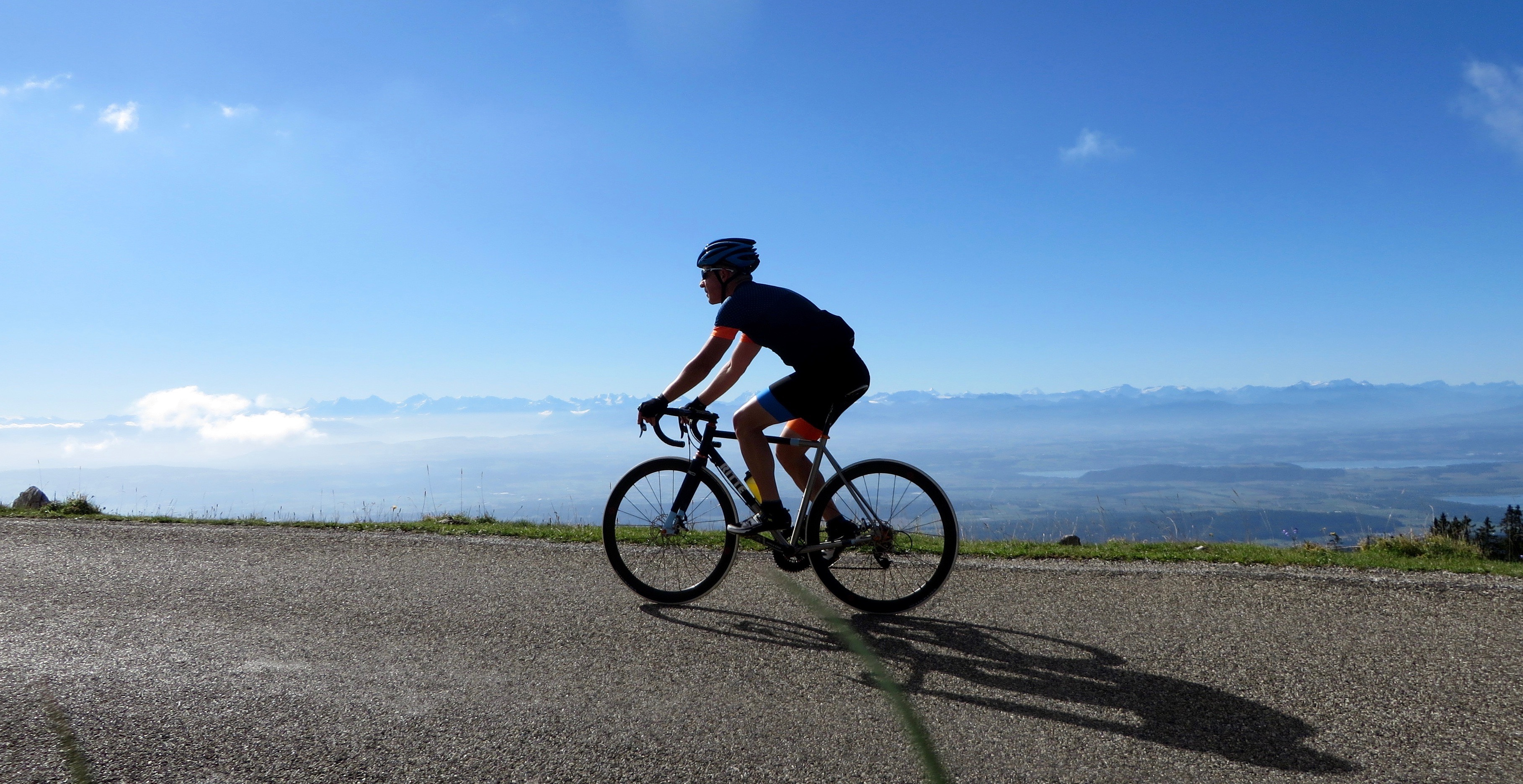 Climbing the Chasseral on August 22, 2016.
